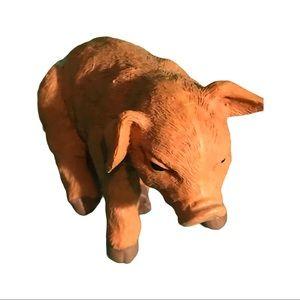 Porcelain Pig Figurine